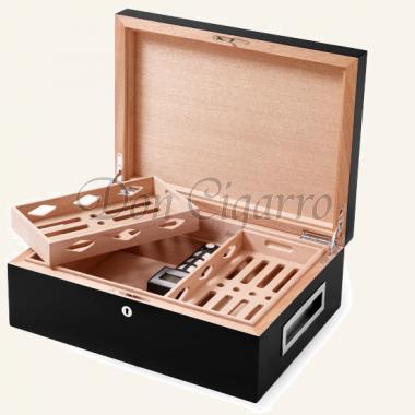 Humidor Villa Spa schwarz mit CigarSpa Befeuchter