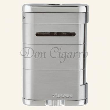 Xikar Allume Zigarren-Tischfeuerzeug silber