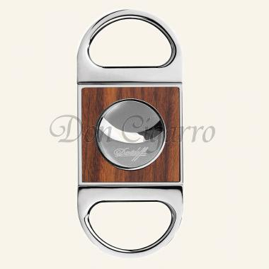 Davidoff cigar-cutters chrome with wood inlays
