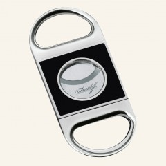 Davidoff cigar-cutter chrome and China lacquer