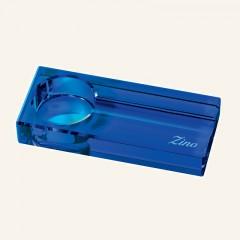 Zino Ascher optisches Glas blau