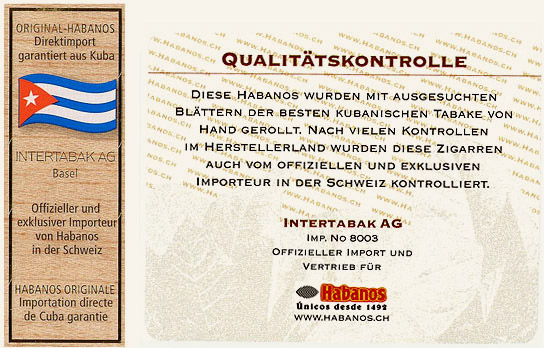 Intertaban AG warranty seals