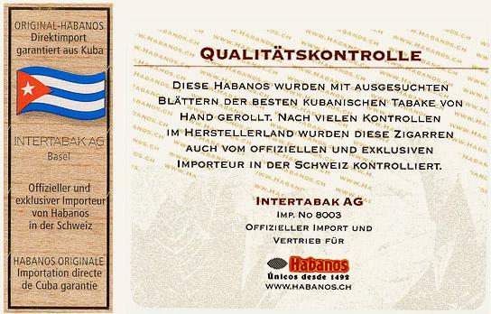 Intertabak AG Qualitätsgarantie